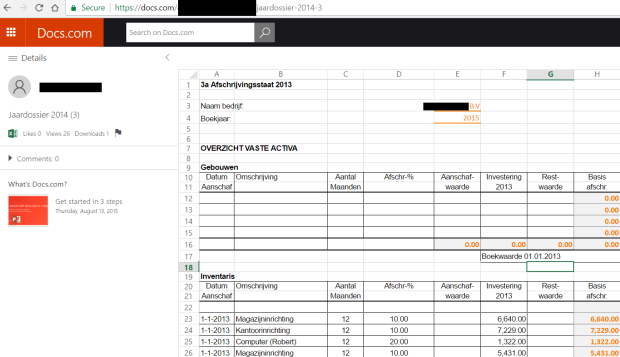 docs com editable excel financial dutch business
