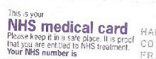 docs com NHS card scanned straight